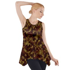 Camouflage Tarn Forest Texture Side Drop Tank Tunic by Onesevenart