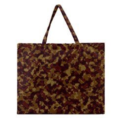 Camouflage Tarn Forest Texture Zipper Large Tote Bag by Onesevenart