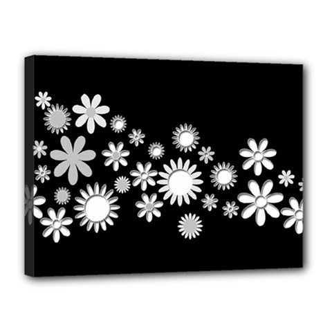 Flower Power Flowers Ornament Canvas 16  X 12  by Onesevenart