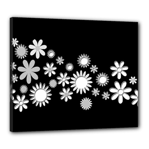 Flower Power Flowers Ornament Canvas 24  X 20  by Onesevenart