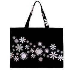 Flower Power Flowers Ornament Zipper Mini Tote Bag by Onesevenart
