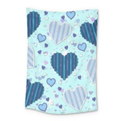 Hearts Pattern Paper Wallpaper Small Tapestry by Onesevenart