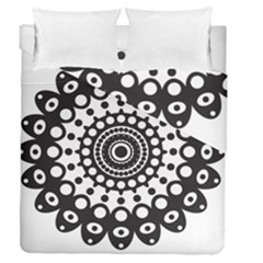 Mandala Geometric Symbol Pattern Duvet Cover Double Side (queen Size) by Onesevenart