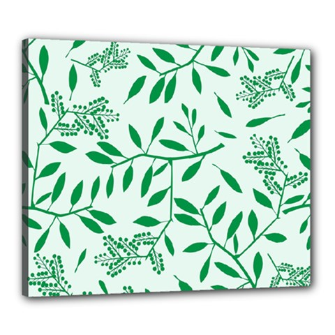 Leaves Foliage Green Wallpaper Canvas 24  X 20  by Onesevenart