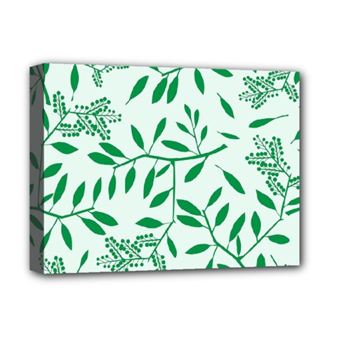 Leaves Foliage Green Wallpaper Deluxe Canvas 16  X 12   by Onesevenart