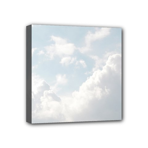 Light Nature Sky Sunny Clouds Mini Canvas 4  X 4  by Onesevenart