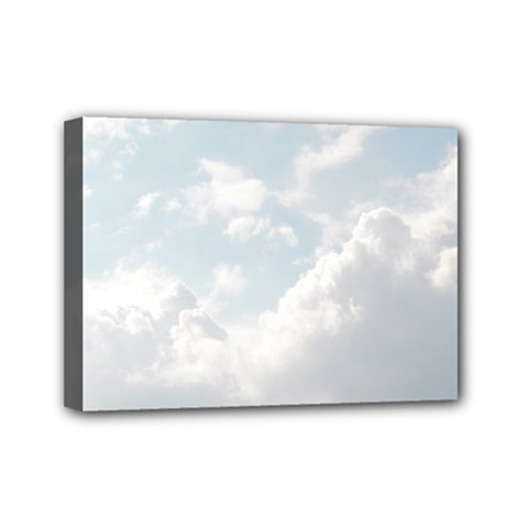 Light Nature Sky Sunny Clouds Mini Canvas 7  X 5  by Onesevenart