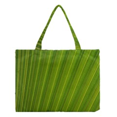 Green Leaf Pattern Plant Medium Tote Bag by Onesevenart