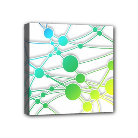 Network Connection Structure Knot Mini Canvas 4  X 4  by Onesevenart