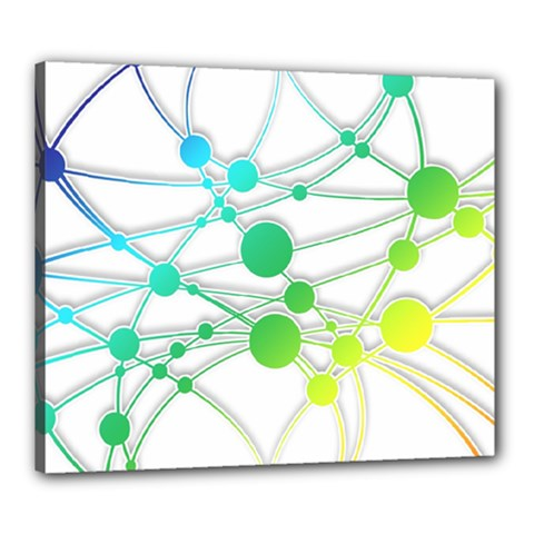 Network Connection Structure Knot Canvas 24  X 20  by Onesevenart