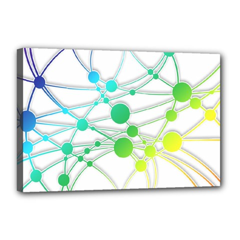 Network Connection Structure Knot Canvas 18  X 12  by Onesevenart