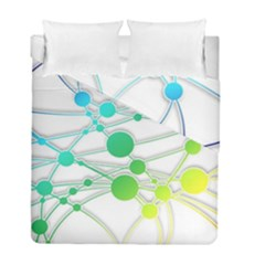 Network Connection Structure Knot Duvet Cover Double Side (full/ Double Size) by Onesevenart