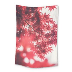 Maple Leaves Red Autumn Fall Small Tapestry by Onesevenart