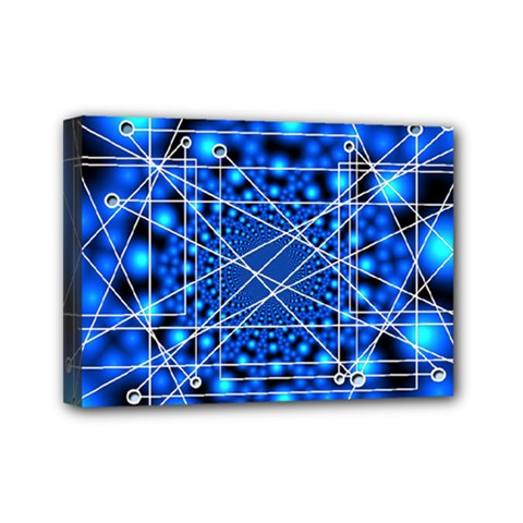Network Connection Structure Knot Mini Canvas 7  X 5  by Onesevenart