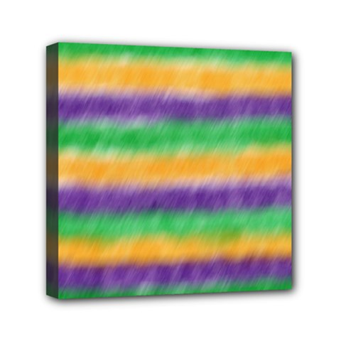Mardi Gras Strip Tie Die Mini Canvas 6  X 6  by PhotoNOLA