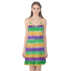 Mardi Gras Strip Tie Die Camis Nightgown by PhotoNOLA