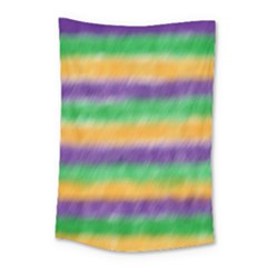 Mardi Gras Strip Tie Die Small Tapestry by PhotoNOLA