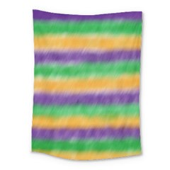 Mardi Gras Strip Tie Die Medium Tapestry by PhotoNOLA
