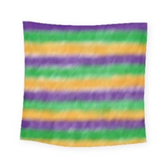 Mardi Gras Strip Tie Die Square Tapestry (small) by PhotoNOLA