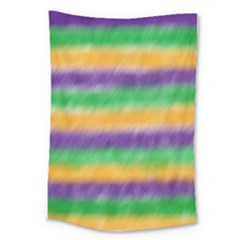 Mardi Gras Strip Tie Die Large Tapestry by PhotoNOLA