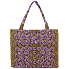 Gold Plates With Magic Flowers Raining Down Mini Tote Bag by pepitasart