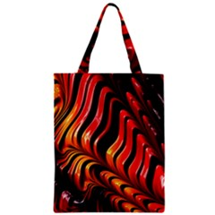 Fractal Mathematics Abstract Zipper Classic Tote Bag by Onesevenart