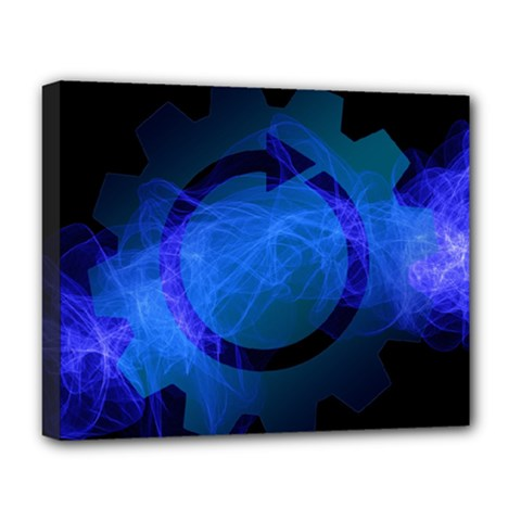 Particles Gear Circuit District Deluxe Canvas 20  X 16   by Onesevenart
