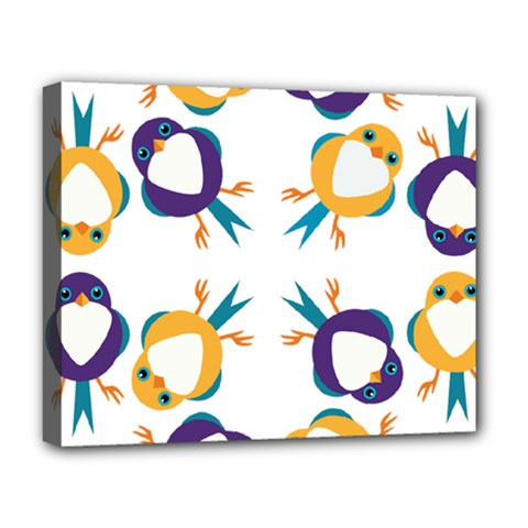 Pattern Circular Birds Deluxe Canvas 20  X 16   by Onesevenart