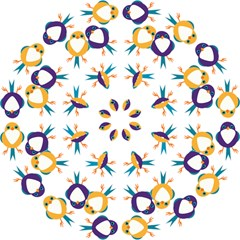 Pattern Circular Birds Hook Handle Umbrellas (small) by Onesevenart
