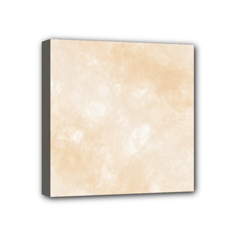 Pattern Background Beige Cream Mini Canvas 4  X 4  by Onesevenart