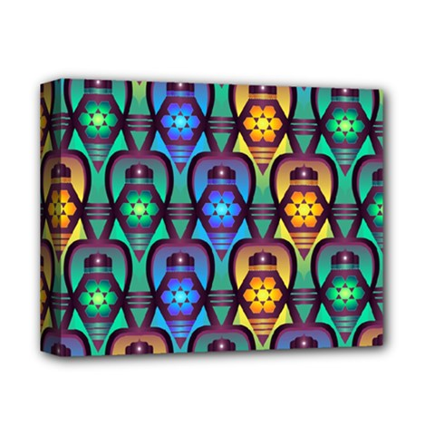 Pattern Background Bright Blue Deluxe Canvas 14  X 11  by Onesevenart