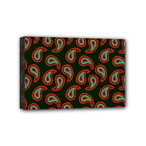 Pattern Abstract Paisley Swirls Mini Canvas 6  X 4  by Onesevenart