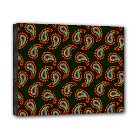 Pattern Abstract Paisley Swirls Canvas 10  X 8  by Onesevenart