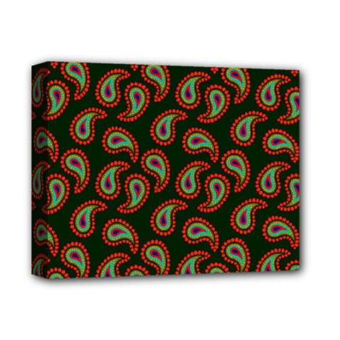 Pattern Abstract Paisley Swirls Deluxe Canvas 14  X 11  by Onesevenart
