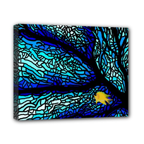 Sea Fans Diving Coral Stained Glass Canvas 10  X 8  by Onesevenart