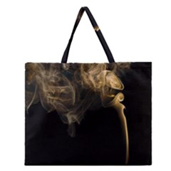 Smoke Fume Smolder Cigarette Air Zipper Large Tote Bag by Onesevenart