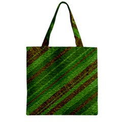 Stripes Course Texture Background Zipper Grocery Tote Bag by Onesevenart