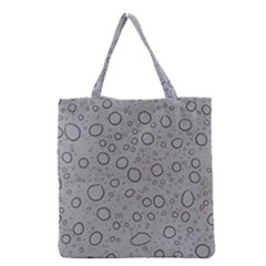 Water Glass Pattern Drops Wet Grocery Tote Bag by Onesevenart