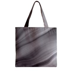 Wave Form Texture Background Zipper Grocery Tote Bag by Onesevenart