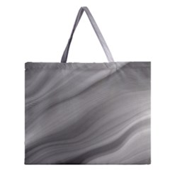Wave Form Texture Background Zipper Large Tote Bag by Onesevenart