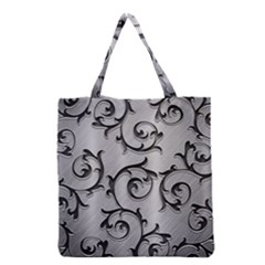 Floral Grocery Tote Bag by Onesevenart