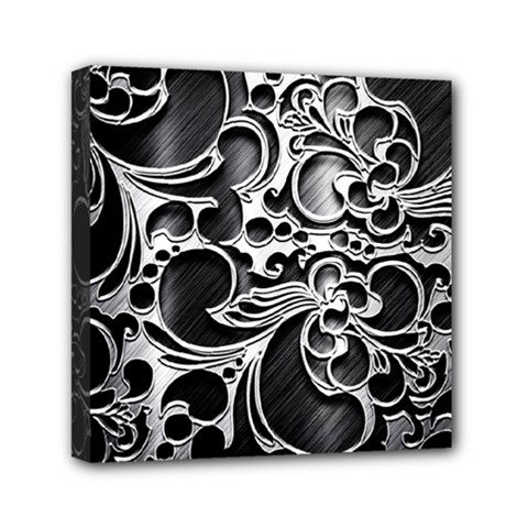 Floral High Contrast Pattern Mini Canvas 6  X 6  by Onesevenart