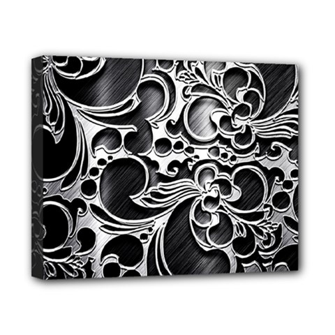 Floral High Contrast Pattern Canvas 10  X 8  by Onesevenart