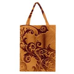 Floral Vintage  Classic Tote Bag by Onesevenart