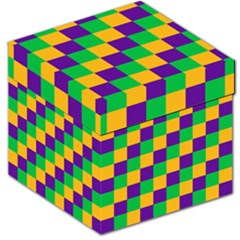 Mardi Gras Checkers Storage Stool 12   by PhotoNOLA