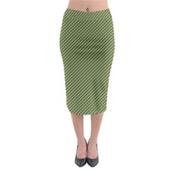 Mardi Gras Checker Boards Midi Pencil Skirt