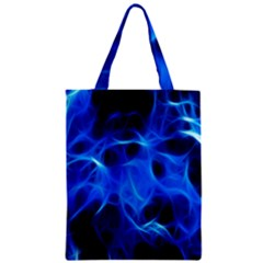 Blue Flame Light Black Classic Tote Bag by Alisyart