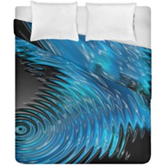Waves Wave Water Blue Hole Black Duvet Cover Double Side (california King Size) by Alisyart