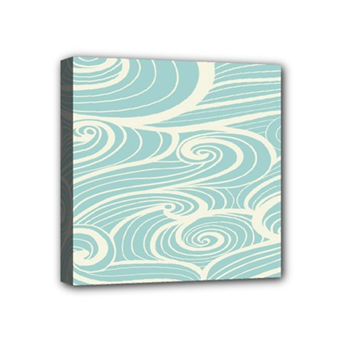 Blue Waves Mini Canvas 4  X 4  by Alisyart