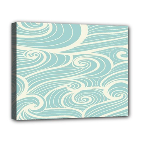 Blue Waves Deluxe Canvas 20  X 16   by Alisyart